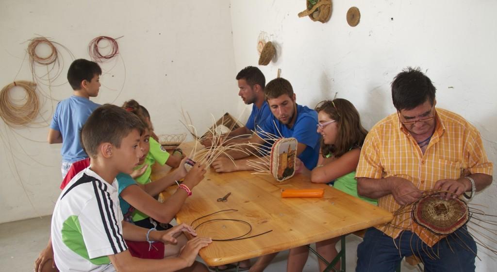 artesanía cestería granja escuela